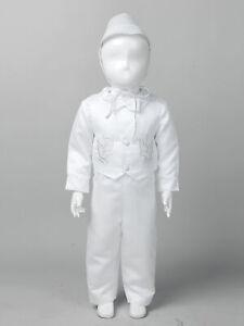 Baby Boy Christening Wedding Baptism Outfit Suit Formal Party Pants Vest Hat Set