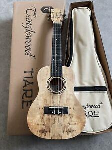 Spalted Maple Concert Ukulele RRP £139 Amazing Flamed , Arched Back + Gig Bag