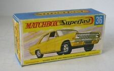 Repro Box Matchbox Superfast Nr.36 Opel Admiral