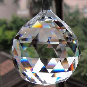 Clear Chandelier Crystal Ball Lamp Prisms Suncatcher Drop Pendant Light 50Mm