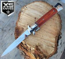 """9"""" TAC FORCE Spring Assisted ITALIAN MILANO STILETTO Tactical Open Pocket Knife"""