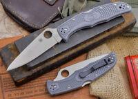 "Spyderco Endura 4 Lightweight Folder Knife 3.8"" VG10 Steel Blade Gray FRN Handle"