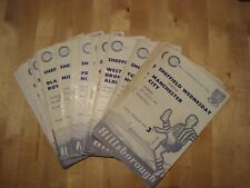 Full set of Sheffield Wednesday home programmes 1959-60 - 25 programmes in all