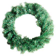 40cm PVC Green Garland Festive Party Crafts Xmas House Decoration Floral Hoop