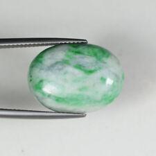 17.35 ct  WONDERFUL - Grade A Green Jadeite Jade - OVAL CABOCHON - See Vdo  SY