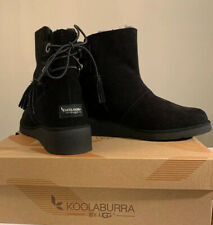 KOOLABURRA BY UGG, LOMA SHORT 1020274 SIZE 8 BLACK WOMAN'S BOOTS BRAND NEW.