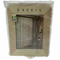 """Vintage Excell Fabric Shower Curtain Versailles 70"""" x 72"""" w/ Waterproof Liner"""