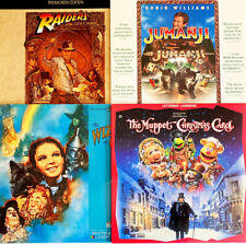 Family Classic Movie LaserDisc Set~Lot of 4~Jumanji/Wizard of Oz/Raiders of the+