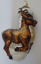 Hand Made/Hand Decorated Glass Reindeer Christmas Ornament by Impuls Made Poland