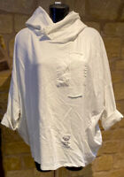 Made In Italy natural product ladies Cotton Relaxed Fit Hoodie Size 10-20