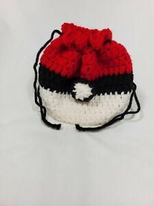 Pokeball Pokemon gaming dice crochet bag pouch gotta catch 'em all!!!