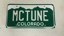 EXPIRED COLORADO License Plate MCTUNE