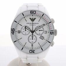 NEU OVP Emporio Armani AR1424 Herren Uhr Chronograph Ceramica Keramik Weiß
