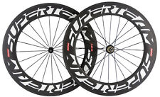 Handbuild Superteam Bicycle 88mm Clincher Carbon Wheelset Road Bike Wheels 700C