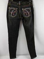 Coogi Australia Denim Jeans Size 5/6 Black Stretch Straight Leg