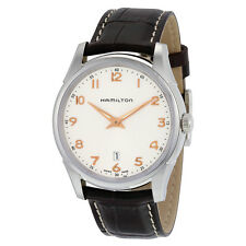 Hamilton Jazzmaster Thinline Silver Dial Brown Leather Mens Watch H38511513