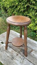 Beautiful Vintage Small Wooden 3 Legged Stool Plant Stand Jardiniere*