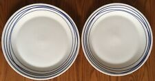 """(2) Royal Doulton London Pacific Lines Blue & White 11 3/8"""" Dinner Plates NEW"""