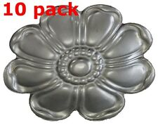 "Metal Stampings Rosette Stylized Flower Design Decor STEEL .020"" Thickness F52"
