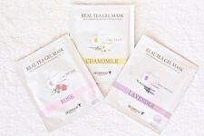 6 x SKINFOOD Real Tea Gel Mask Sheet (Rose, Lavender, Chamomile)+ Free Gift