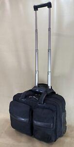 "Andiamo Bravo Black 17"" Wheeled Carry On Laptop Computer Bag Business Briefcase"