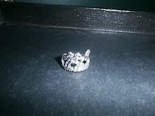 STERLING SILVER RING FOUR HORSES RUNNING ENGLISH WESTERN