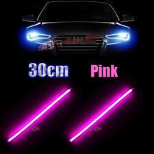 2x 30cm Pink Soft Tube LED Strips for Car Motor Headlight Daytime Running Lights