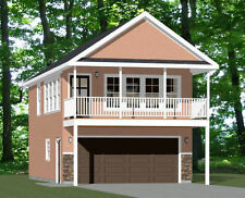 20x32 House -- 1 Bedroom -- 2 Car Garage -- PDF Floor Plan -- Model 6W