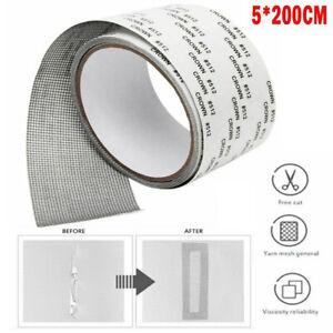 Window Screen Repair Patch Adhesive Fiberglass Mesh Hole Repaire Tape 5*200cm