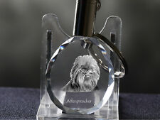 Affenpinscher, Hund Kristall rund Schlüsselbund, Crystal Animals CH