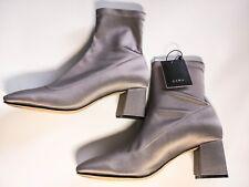 Zara Ankle Boots, Sock style, Silver, Size 4 (EU 37)