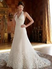 A858W CASABLANCA 2011 SZ 10 CHAMPAGNE FORMAL WEDDING GOWN DRESS