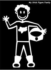 M15 MAN IN MOTOCROSS CLOTHES - MY STICK FIGURE FAMILY CAR WINDOW STICKER DECAL