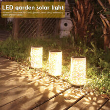 LED Hanging Lamp Solar Lights Outdoor Garden Lantern Carved Flowers Waterproof