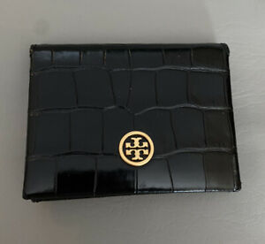 NWT Tory Burch Parker Embossed Card Case $128.00