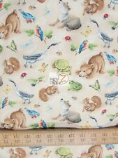 QUIET BUNNY & THE NIGHT SONG BY WILMINGTON PRINTS COTTON FABRIC FH-3209 BY YARD