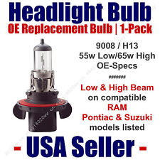 Headlight Bulb High/Low OE Replacement Fits Listed RAM, Pontiac & Suzuki - 9008