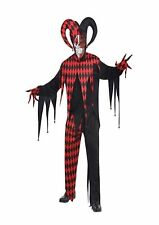 Krazed Jester Clown Circus Halloween Horror Plus Size XL Costume Outfit P9784
