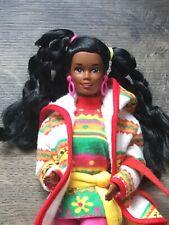 1990 Vintage Barbie Benetton Christie Doll Accessories & Stand.