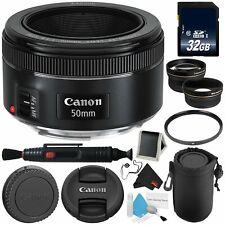 Canon EF 50mm f/1.8 STM Lens 0570C002 Professional Bundle (Intl Model) Version