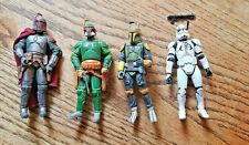 STAR WARS EE RARE Mandalorians + Mandalorian Clone Trooper Lot of 4 LOOSE
