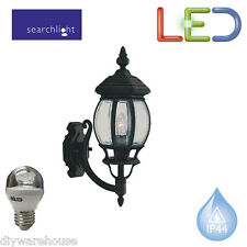SEARCHLIGHT 7144-1 DIE CAST LED 5.9W LANTERN OUTDOOR WALL BRACKET MATT BLACK NEW