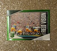 2019 Panini Elite Football Field Vision SP Green Parallel AARON RODGERS Packers