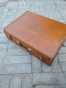 "Vintage Samsonite Shwayder Bros 26"" Hard Shell Streamline Luggage #4636 With Key"