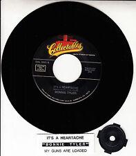 "BONNIE TYLER  It's A Heartache 7"" 45 rpm vinyl record + juke box title strip NEW"