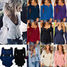 Plus Size Women's V Neck Shirt Long Sleeve Loose Blouse Summer Ladies Tunic Tops