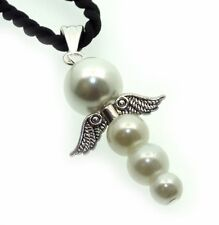 Glass Pearl Guardian Angel Inspired Pendant
