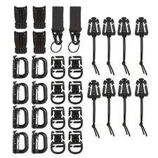 30pcs/set Tactical Gear Clip Strap for MOLLE Backpack Webbing Attachments D Ring