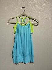Lululemon No Limits Tank Angel Blue Antidote Size 4