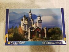 500 Piece Puzzlebug Puzzle - Neuschwanstein Castle, Bavarian Alps Germany ~ New